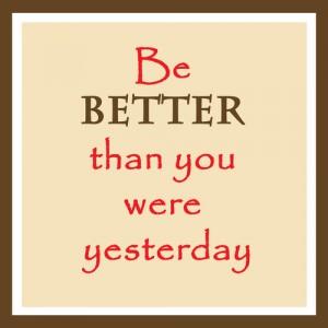 Je doelen bereiken : doe het elke dag gewoon een beetje beter of meer.