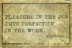 gelukzaligehid door perfectie in je job