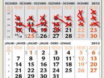 motivatie kalender met kruisjes