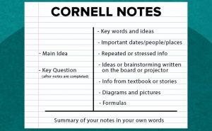 cornell-notes als techniek om te onthouden wat je leest