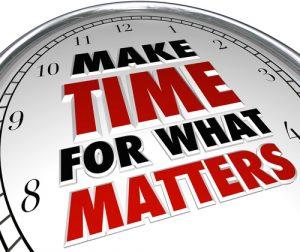 elimineren is tijd maken voor de belangrijke zaken