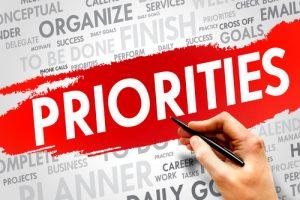 Bepaal je prioritieiten