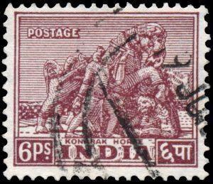 De postzegel kleeft aan de enveloppe tot de brief op zijn plaats is